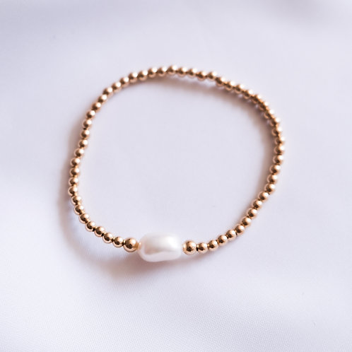 Freshwater Pearl Solitaire  Bracelet