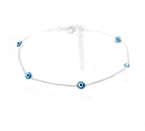 Silver Mati Anklet