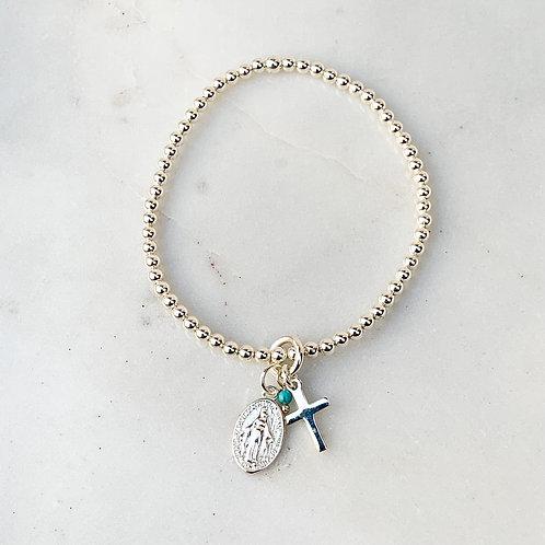 Madonna Cross Bracelet