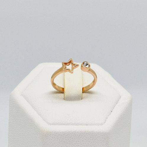 CZ Star split Ring