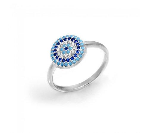 Turquoise-Blue Mati Ring