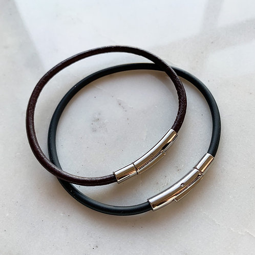 Leather or PVC  Bracelet