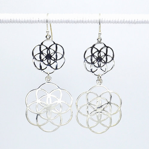 Filigree Double Flower of Life Earrings