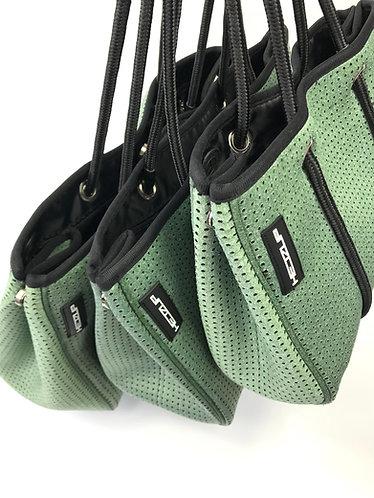 Hedzup Green Denim Neoprene Tote Bag
