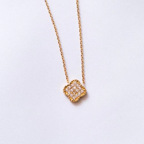 CZ Clover Necklace