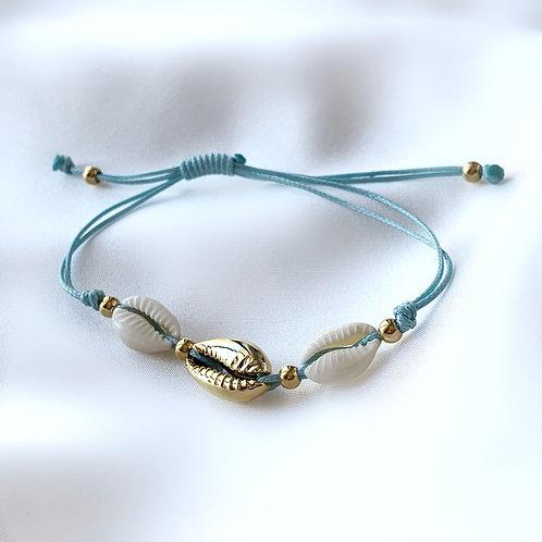 Triple Cowrie Bracelet