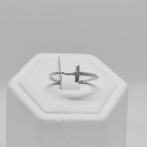 Matte-finish Side Cross Ring