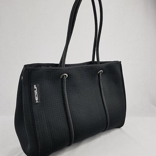 Hedzup Medium Black Neoprene Tote Bag