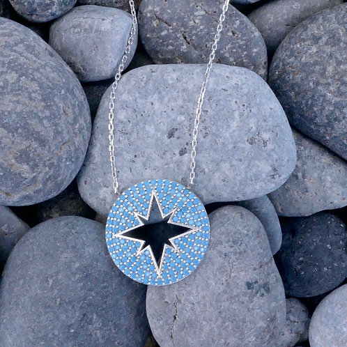 Turquoise Star Compass Necklace