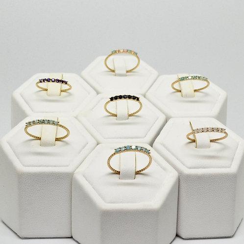 CZ 7-Stone Stacking Ring