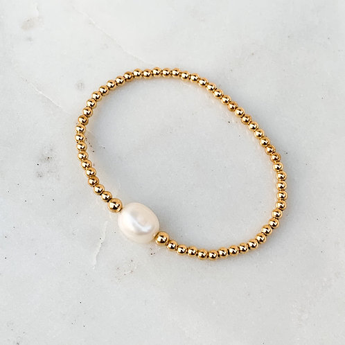Pearl Solitaire  Bracelet