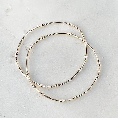 Sterling Silver Beaded Stacking Bracelet