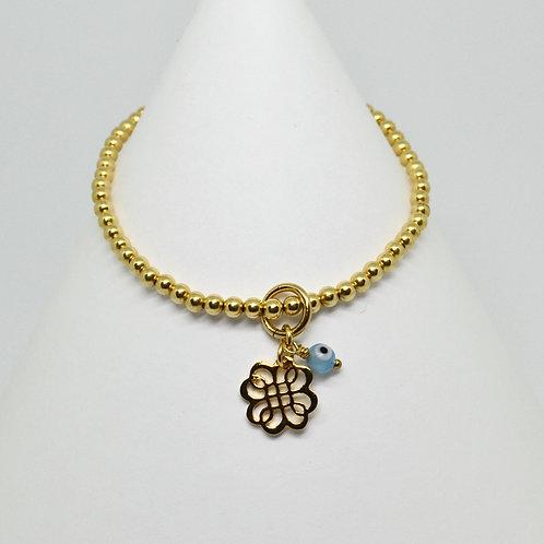 Mini filigree knot charm bracelet