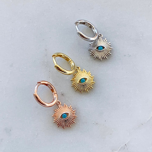 Turquoise Illios Mini Hoops