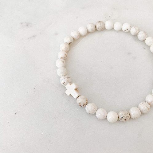 Aspro Gemstone Cross Bracelet