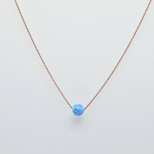 Opalite Solitaire Bead Necklace
