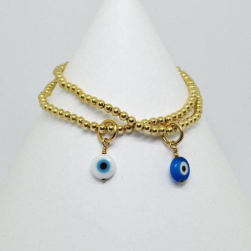 Rose & Yellow Mati Charm Bracelet