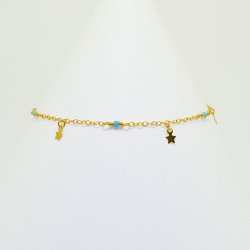 Gold Starry Night Anklet
