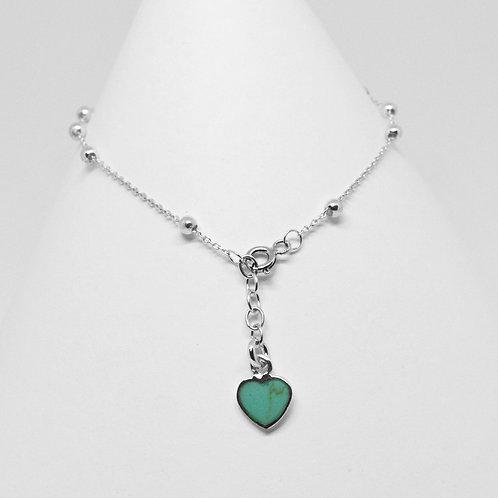 Rosary Heart Charm 3mm Bracelet