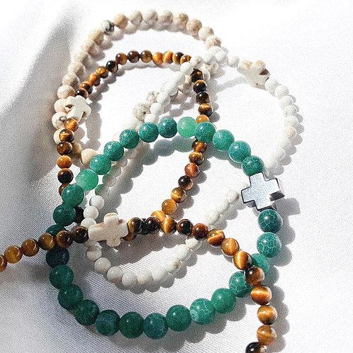 Gemstone Cross bracelets