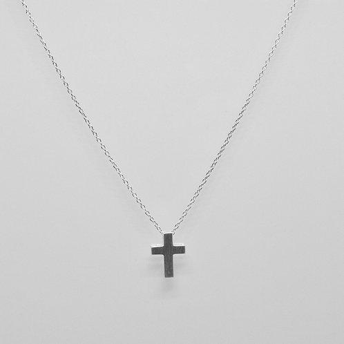 Satin Finish Cross Necklace