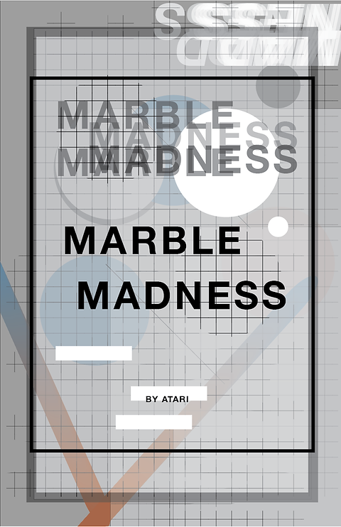 Marble Madness, Wolfgang Weingart Inspired