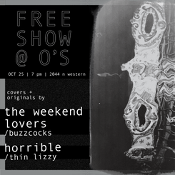 Flyer for Free Show @ O's