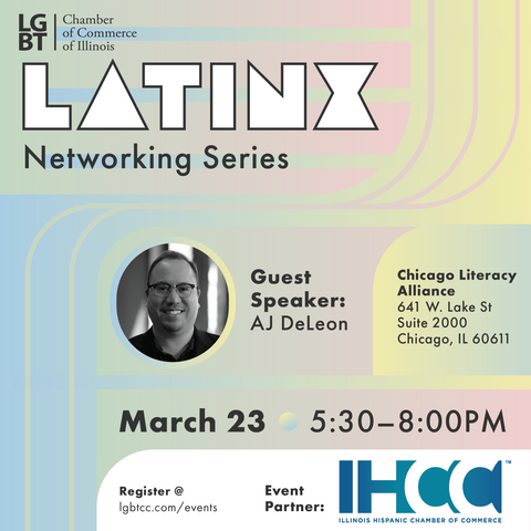 Flyer for Latinx networking event
