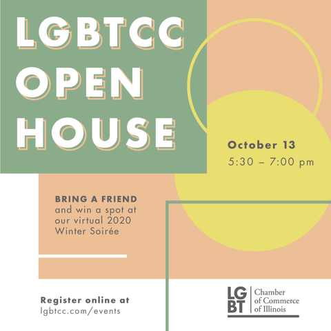 Flyer for LGBTCC's annual Open House