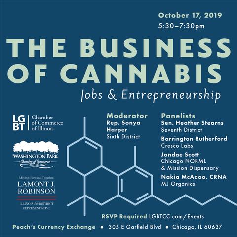 Flyer for cannabis entrepreneurship panel