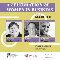 Flyer for A Celebration of Women in Business panel