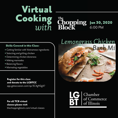 Flyer for virtual cooking class