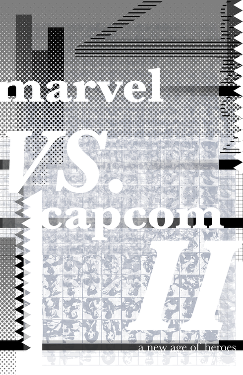 Marvel Vs. Capcom 2: A New Age of Heroes, Wolfgang Weingart Inspired