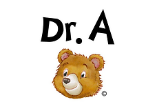 Dr A bear caricature cartoon.png