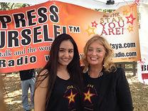 Coach Cynthia Brian mentors volunteer, Henna Hundal