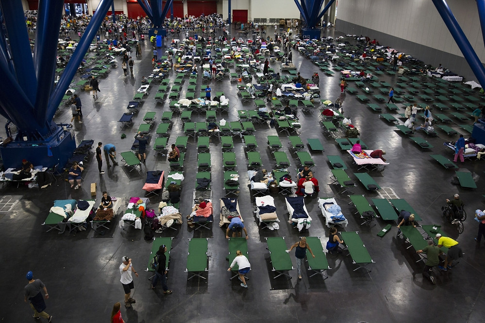 Hurricane victims in Shelters