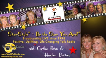Cynthia Brian and Heather Brittany on air
