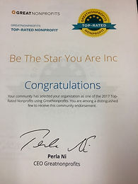 Be the Star You Are!® is a TOP NON PROFIT!