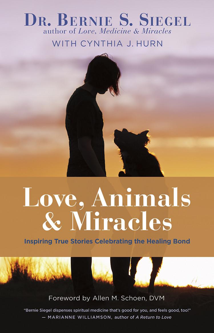 Dr. Bernie Siegel and animals