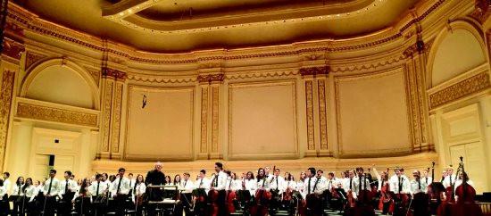 host Brigitte Jia performs at Carnegie Hall