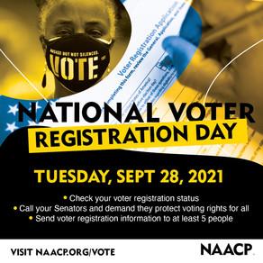 Sept. 28 is National Voter Registration Day