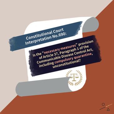 Constitutional Court Interpretation No.690: Compulsory Isolation of Taipei Hospital Heping Branch