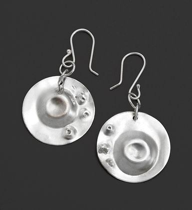 Circular Dapped Earrings w/Small Punches
