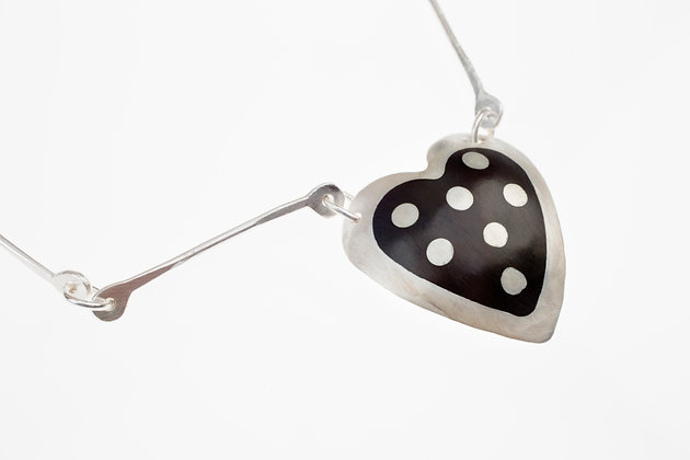 Spotted Heart w/Handmade Chain