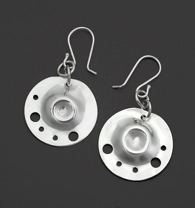 Circular Dapped & Pierced Earrings