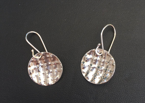 Double Crimped Circle Earrings