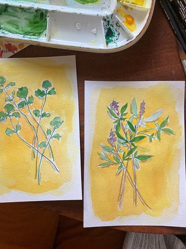 cilantro and thai basil