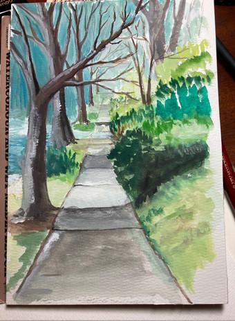 Sidewalk on a winter day