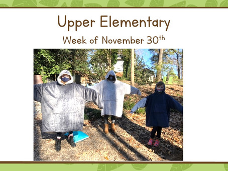Upper El: Week of 11/30-12/4... Decemburrr!