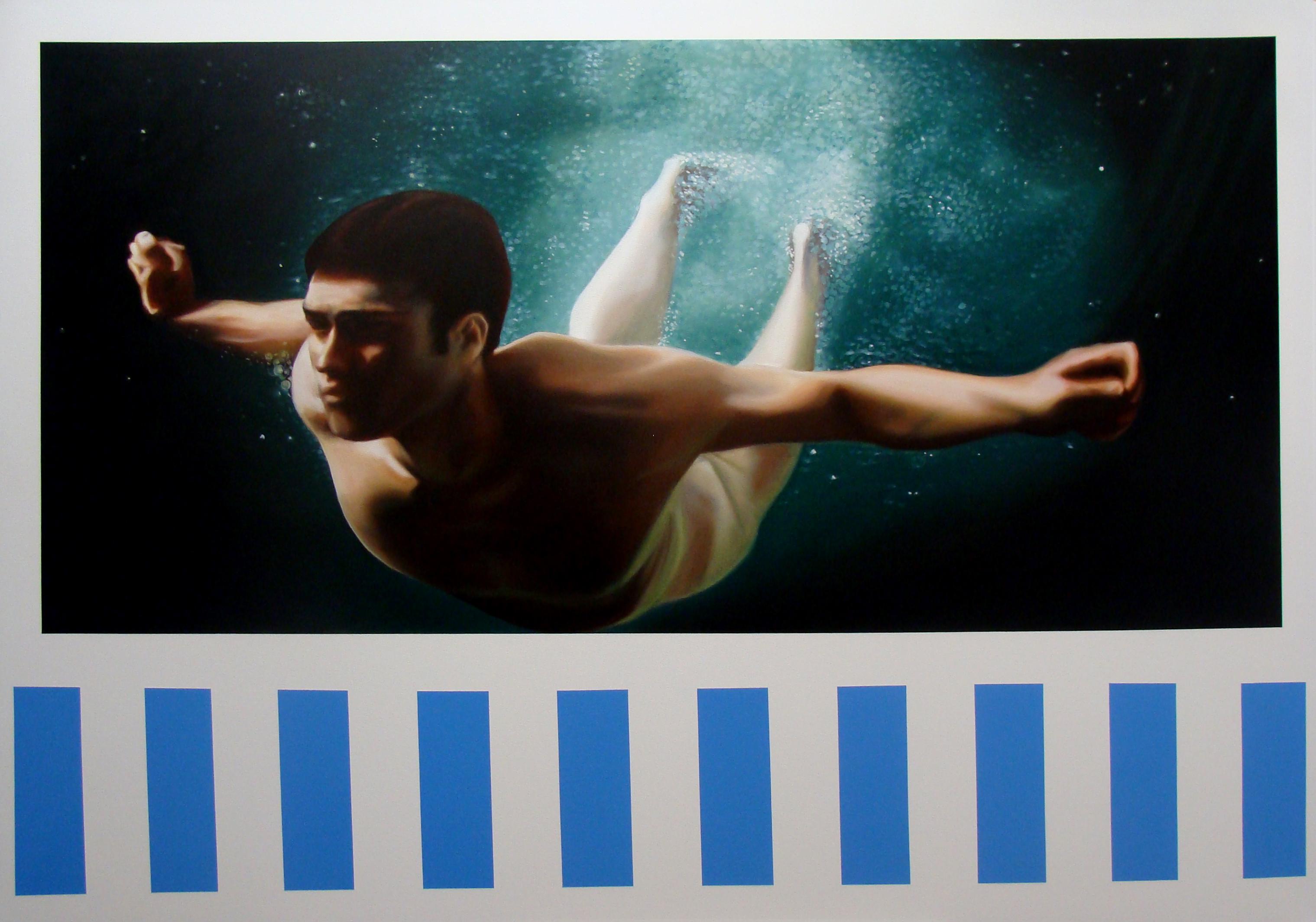 Daniel Buren-Bill Travis, oleo sobre tela, 120x170cm.jpg